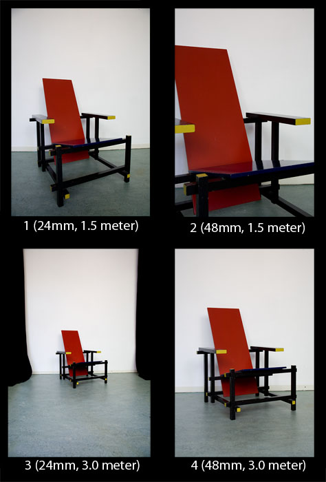 Perspective, focal length and camera position